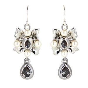 ALEXIS BITTAR Byzantine Flower Wire Drop Earrings